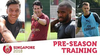 WOW, IT'S HOT!  Arsenal stars train in Singapore | #AFCTour2018