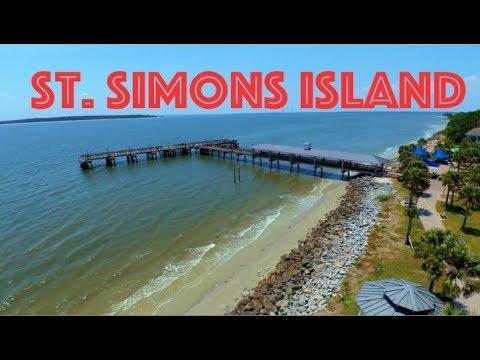 St. Simons Island in Georgia Drone Footage