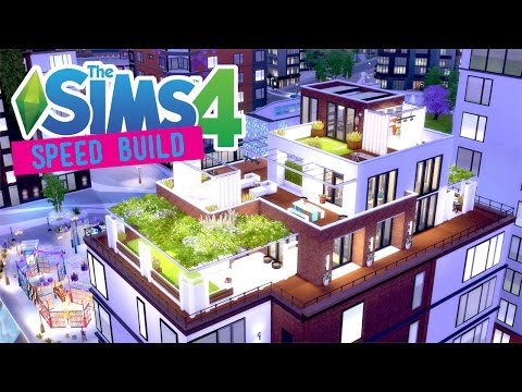 The Sims 4 -Speed Build- Bohemian Penthouse - No CC -