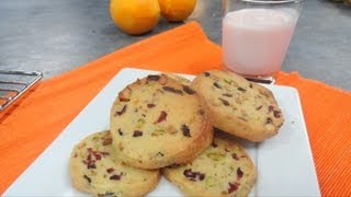 Pleasant Pistachio Cranberry Shortbread Cookies Video Recipe By Bhavna