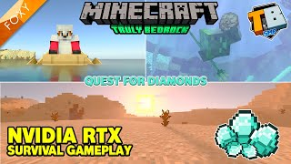 Minecraft RTX Gameplay | Quest for Diamonds | Truly Bedrock Season 1 [108]