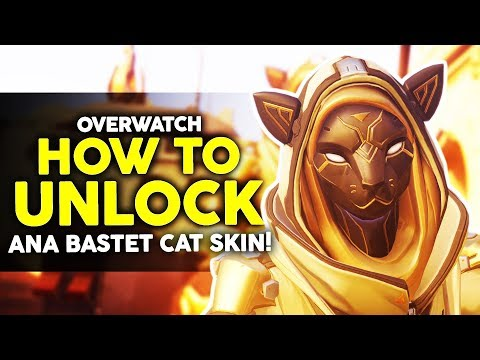 Overwatch - How to Unlock Ana Bastet Skin and Items! thumbnail