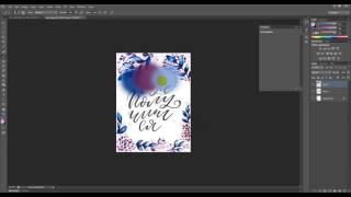 Цветной леттеринг акварельный эффект в фотошоп Photoshop