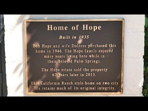 Bob Hope's 2nd Palm Springs Home Is Located On El Alameda Street