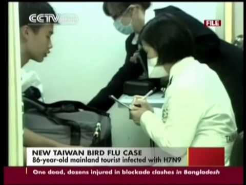 86-year-old mainland tourist infected with H7N9 in Taiwan