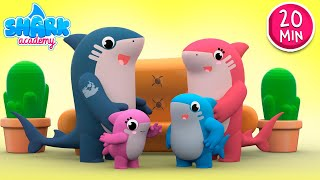 Baby Shark Song - Kids Learn About Family | Nursery Rhymes & Kids Songs | Shark Academy