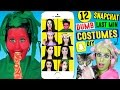 12 DUMB DIY Snapchat Filter Costumes | Last Minute Costume Ideas | Tomato, Dog, Strawberry Filters!