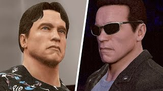 WWE 2K16 The Terminator Gameplay Terminator Vs Terminator Entrance Arnold Schwarzenegger