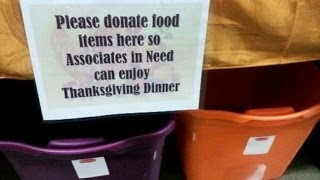 Walmart Holding Food Drive for the Poor: Their Own Underpaid Employees