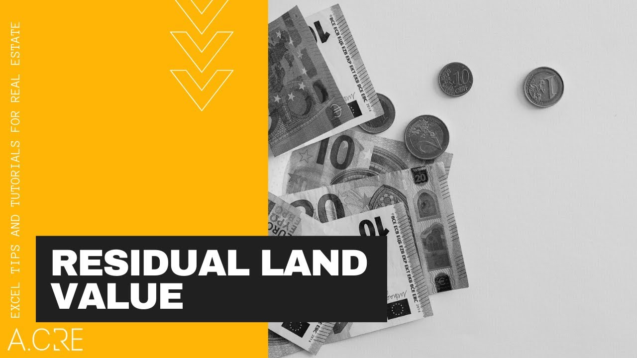 Calculating Residual Land Value Using Excel  YouTube