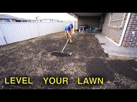 how-to-level-a-lawn-|-lawn-renovation