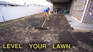How To Level A Lawn | Lawn Renovation