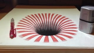 Dessin Illusion : Trou 3D - Trompe-l'oeil