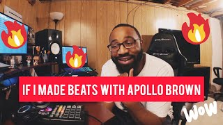 If I made beats with Apollo Brown!! (making a boom bap beat fl studio)