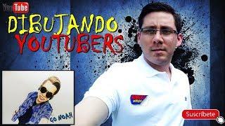 Dibujando Youtubers Speed Draw/ GO NOAH desde Chile