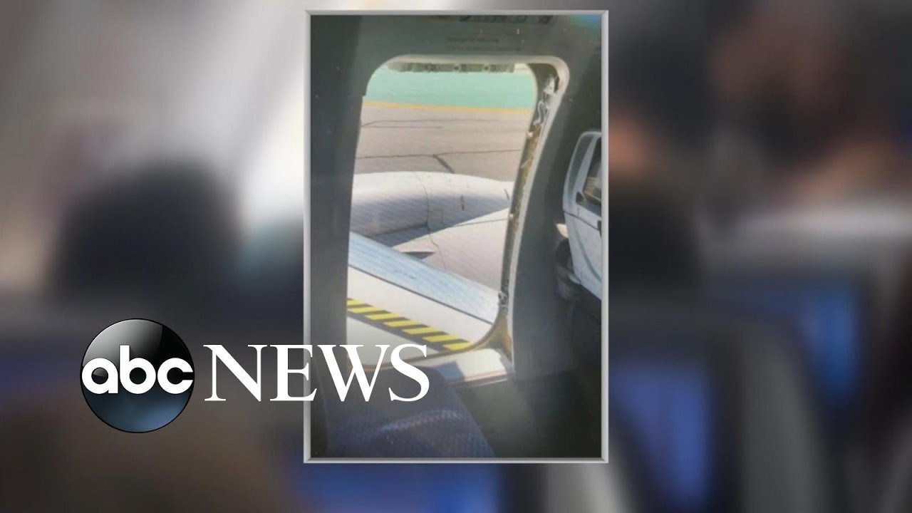 17 Year Old Opens Emergency Door On Plane Youtube