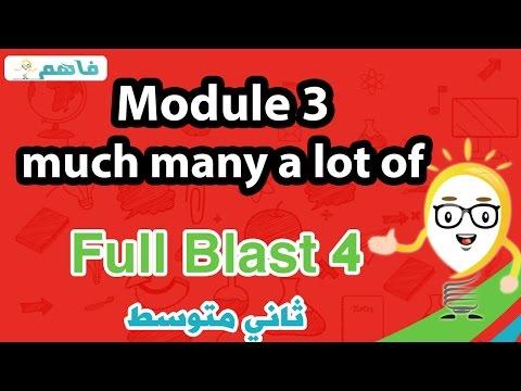 Module 3 much  many  a lot of انجليزى ثانى متوسط