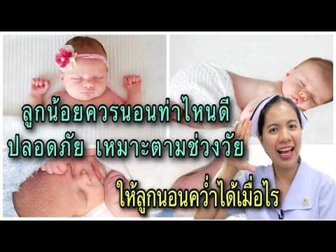 ลูกน้อยควรนอนท่าไหนดี ลูกนอนคว่ำได้เมื่อไร ท่านอนของลูกแต่ละช่วงวัย ทารกแรกเกิด-12 เดือน