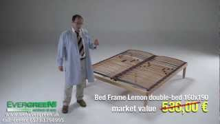Lemon Fixed Wooden Bed Base Slats Cushioned King Size 5ftx6ft6''