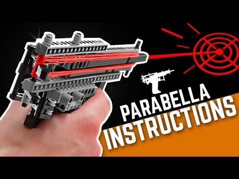 Lego Building Instructions Parabella Rubber Band Pistol Youtube