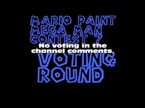 Mario Paint Mega Man Contest 7 Voting Round!
