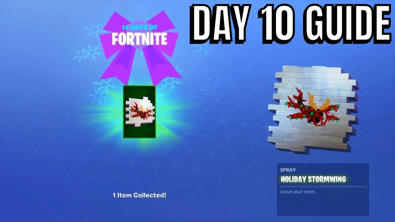 Fortnite 14 Days Of Christmas.Fortnite 14 Days Of Christmas Day 10 Rewards