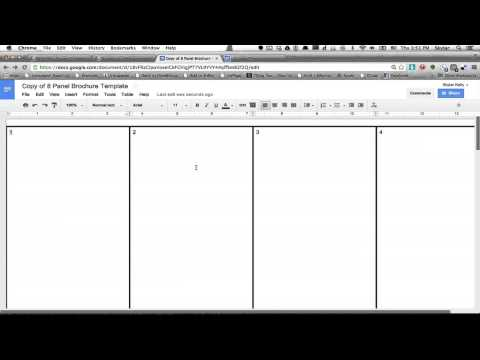 how to make a trifold brochure in google docs