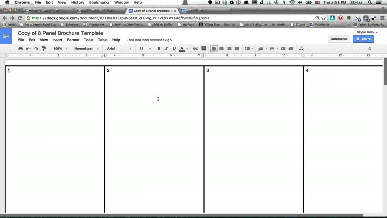 How To Make A Brochure Using Google Docs Using Firefox Google - Google brochure template