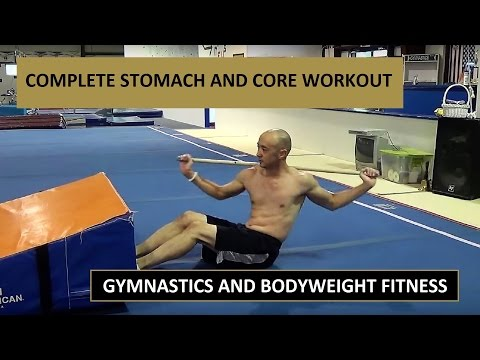STOMACH/CORE WORKOUT – UPPER/LOWER ABS, SERRATUS, OBLIQUES – Gymnastics Fitness Calisthenics