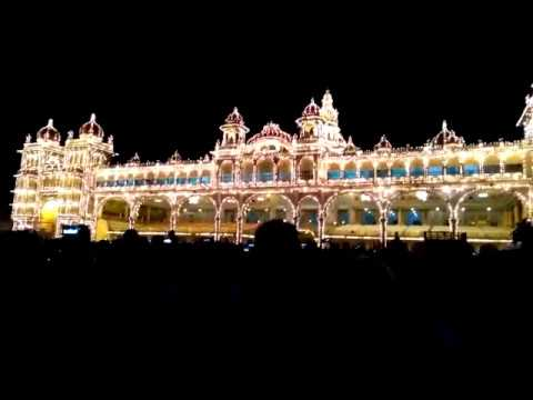 MYSORE PALACE DURING DASARA- BEST EXAMPLE FOR ANCIENT ARCHITECTURE