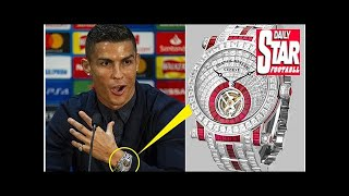 Ronaldo ready to sparkle at United as star shows off diamond watch