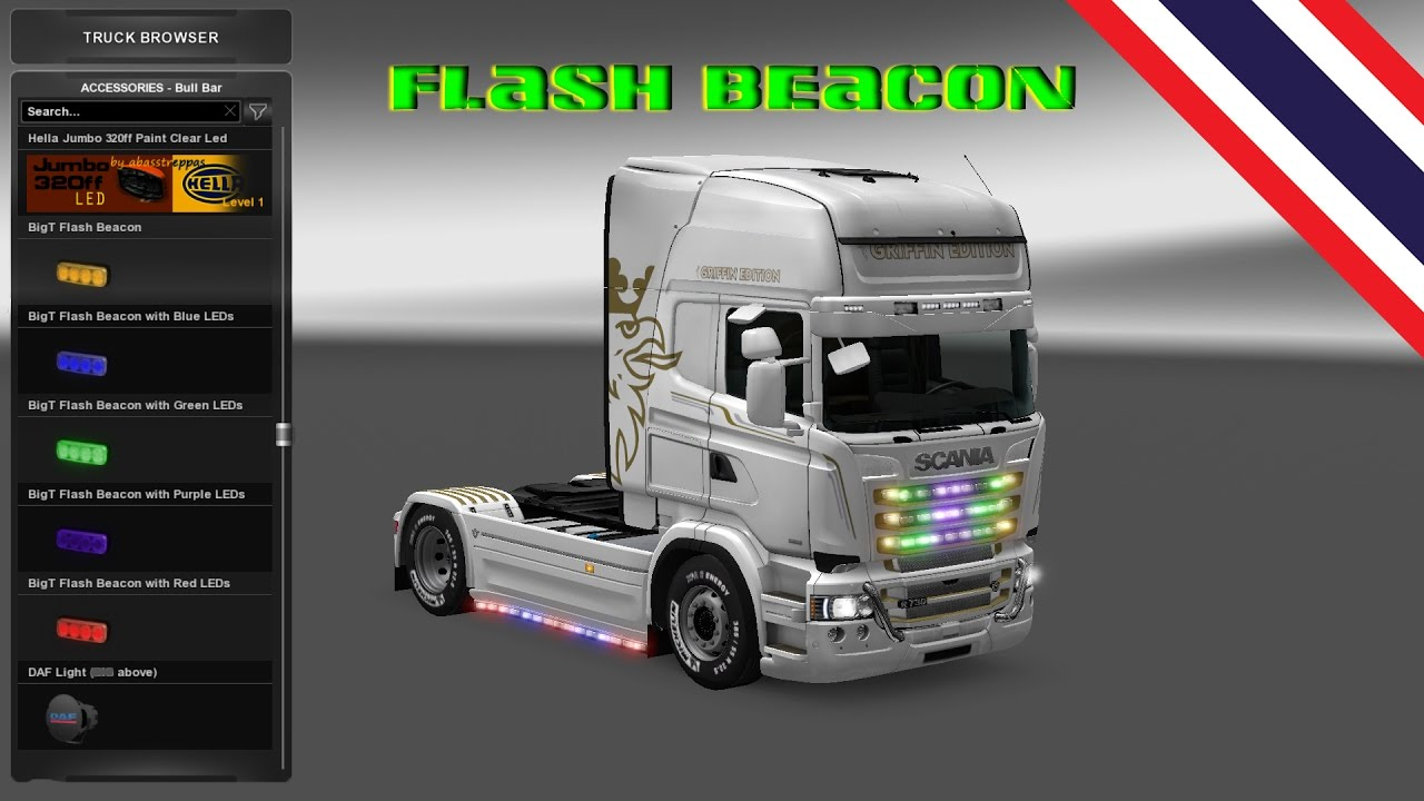 Euro Truck Simulator 2 Mod Bigt Flash Beacon Youtube