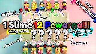 Mantul! Tambahin 12 Pewarna: 1 per 1 ke 1 Slime yang sama! Lihat Prosesnya [Slime Experiment].mp3