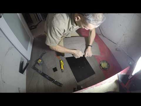 bathroom floor  install vinyl tiles time lapse