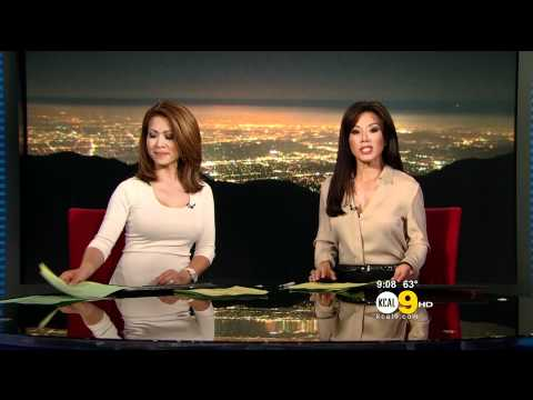 Leyna Nguyen 2011/08/12 9PM KCAL9 HD; Tight white top thumbnail
