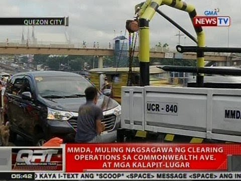 QRT: MMDA, muling nagsagawa ng clearing operations sa Commonwealth Ave. at mga kalapit-lugar