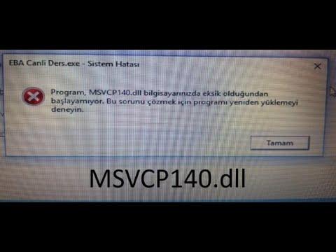 PUBG msvcp140.dll Hatası Kesin Çözümü