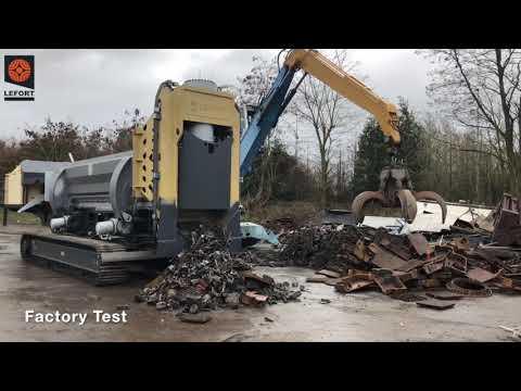 LEFORT scrap shear Trax600/SB660C factory test cast iron