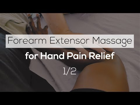 Forearm Extensor Massage For Hand Pain Relief 1/2