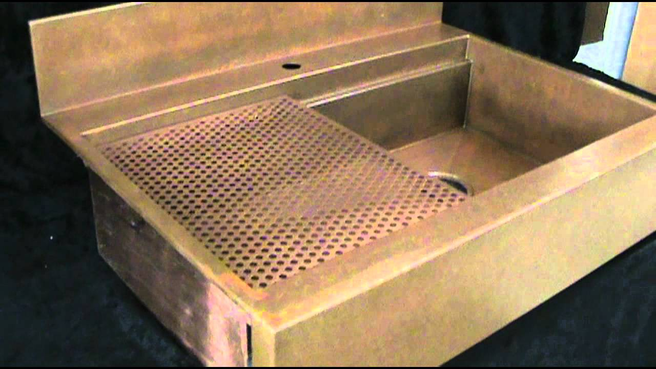 Top Mount copper apron front sink made in America - YouTube