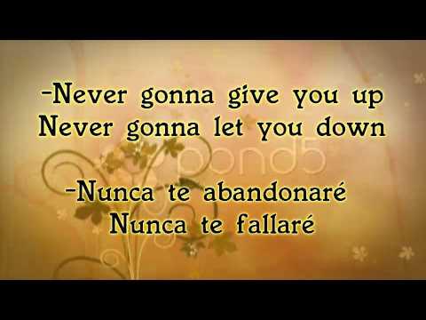 Never Gonna Give You Up-Rick Astley (letra & traducción)