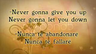 Never Gonna Give You Up-Rick Astley (letra & traducción)