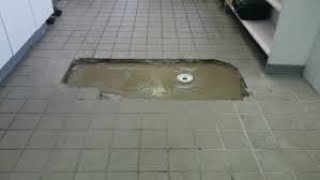 How to repair and replace Restaurant tile, repair. Re-grout, repair grout.