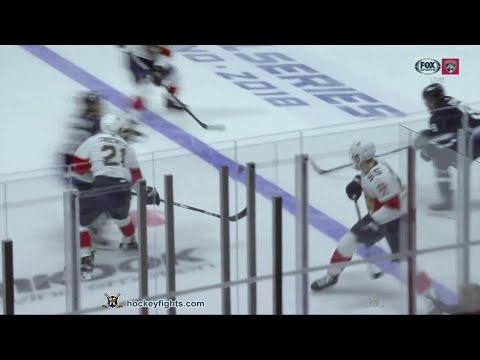 MacKenzie Weegar vs Brendan Lemieux Nov 2, 2018