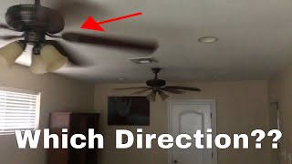 Which direction for ceiling fan in summer?