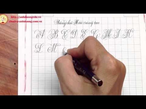 Bảng chữ hoa sáng tạo viết bằng bút mài thầy Ánh 007