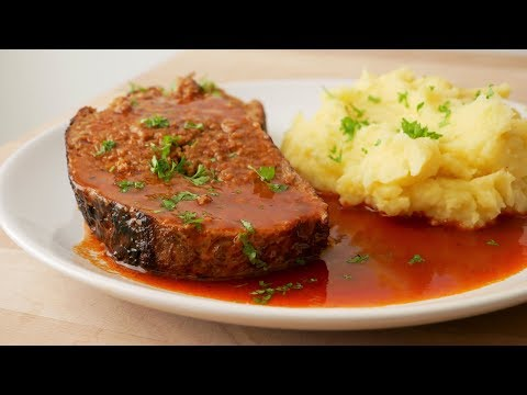 Meat Loaf with Sauce (Recipe) || [ENG SUBS]