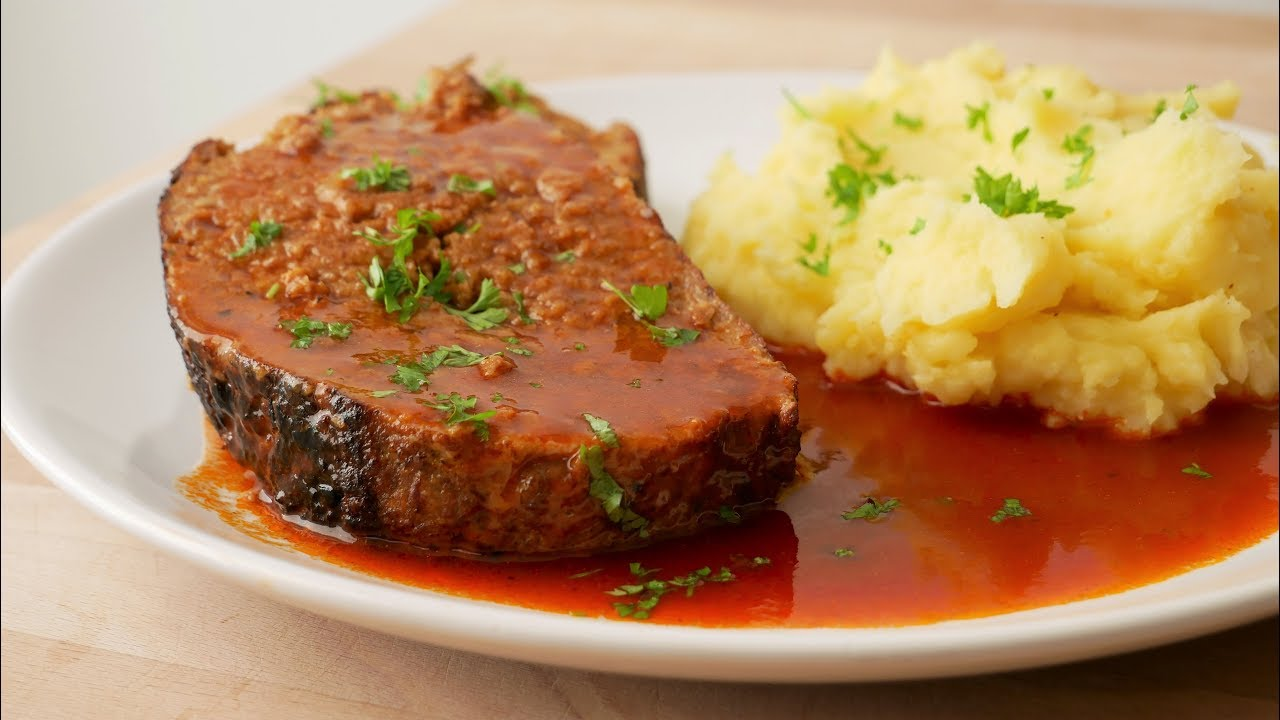 hackbraten mit sauce rezept meat loaf with sauce