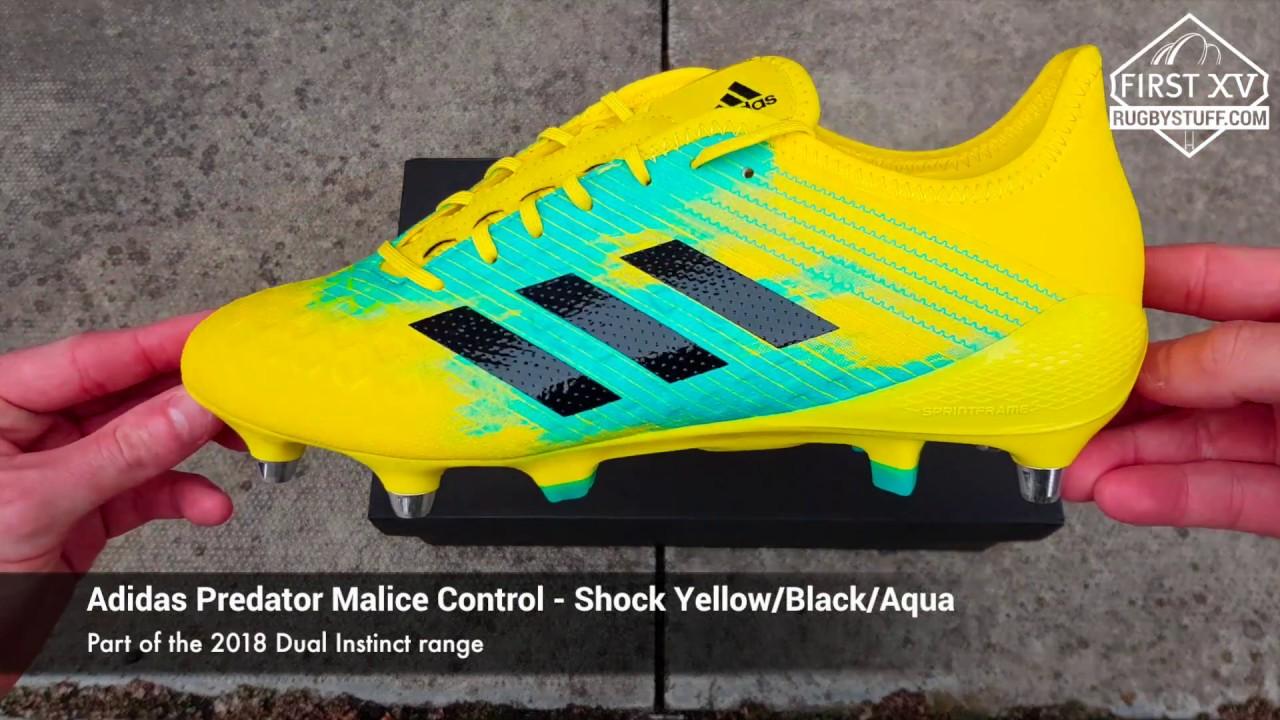 870fbefec386 Adidas Predator Malice Control SG Rugby Boots - 2018 Dual Instinct  Collection