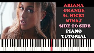 Ariana Grande ft. Nicki Minaj - Side To Side (Piano Tutorial With Synthesia)
